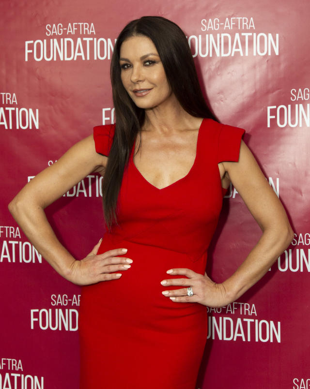 Catherine Zeta-Jones attends SAG-AFTRA Foundation Conversations screening of <em>Cocaine Godmother.</em> (Photo: Getty Images)