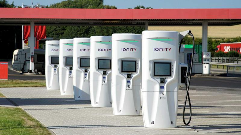 Tritium fast chargers at IONITY station