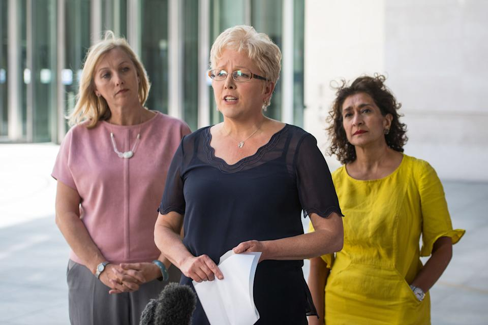 <strong>Carrie Gracie (centre)</strong> (Photo: PA)
