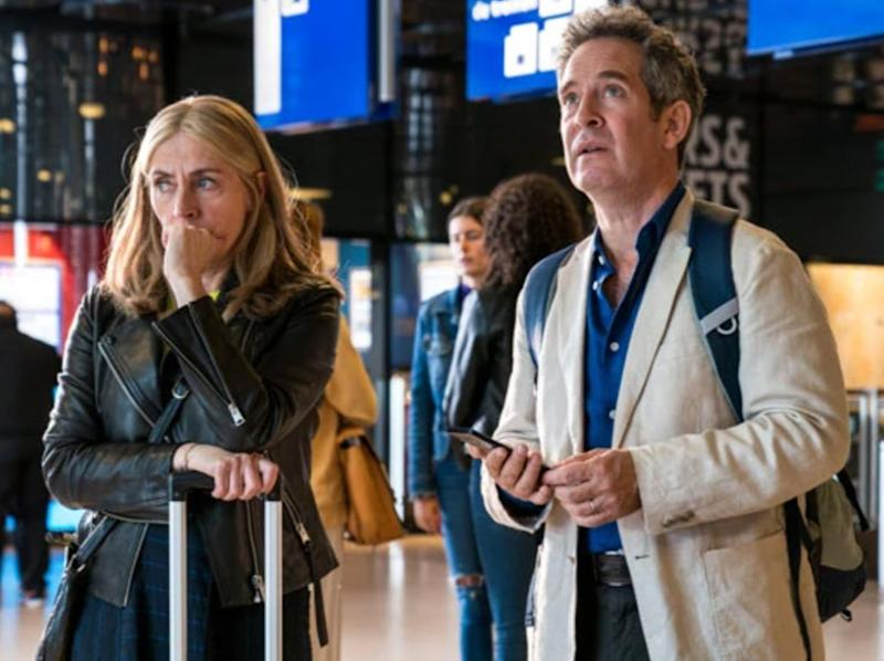 Saskia Reeves and Tom Hollander in BBC One drama 'Us' (BBC)