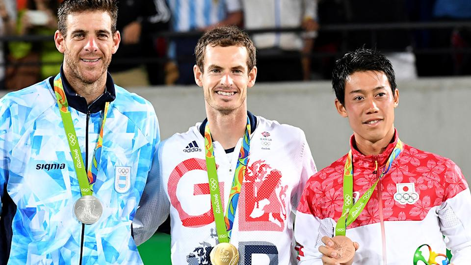 Andy Murray claimed gold in the men's singles at the 2016 Rio Olympics. Photo: LUIS ACOSTA/AFP via Getty Images)