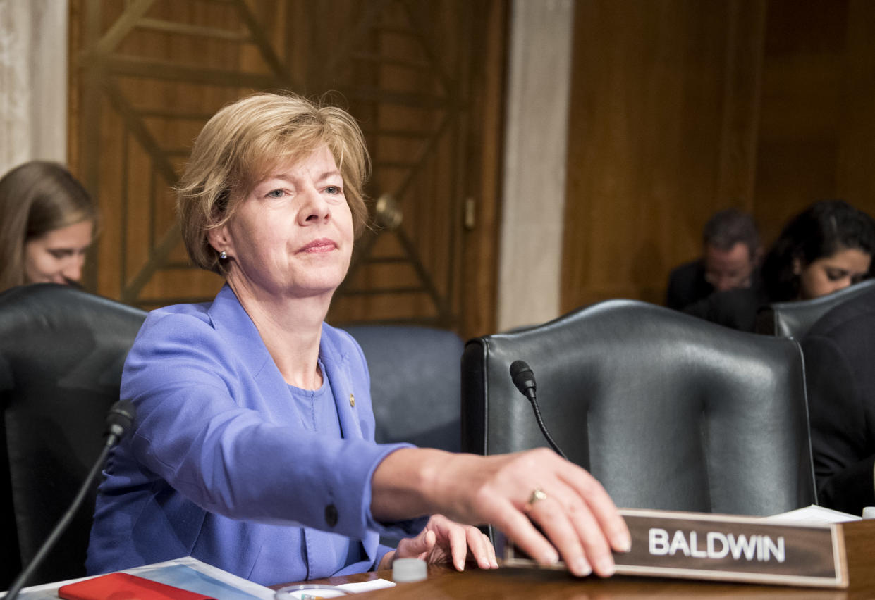 Sen. Tammy Baldwin, D-Wisc., who's up for reelection this fall. (Photo: Bill Clark/CQ Roll Call/Getty Images)