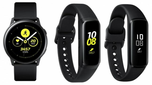 Samsung on Tuesday announced the Galaxy Watch Active, Galaxy Fit and Galaxy Fit e to expand its wearables portfolio in India. While the Galaxy Watch Active offers features like blood pressure monitoring, the Galaxy Fit bands can analyse sleep and stress.