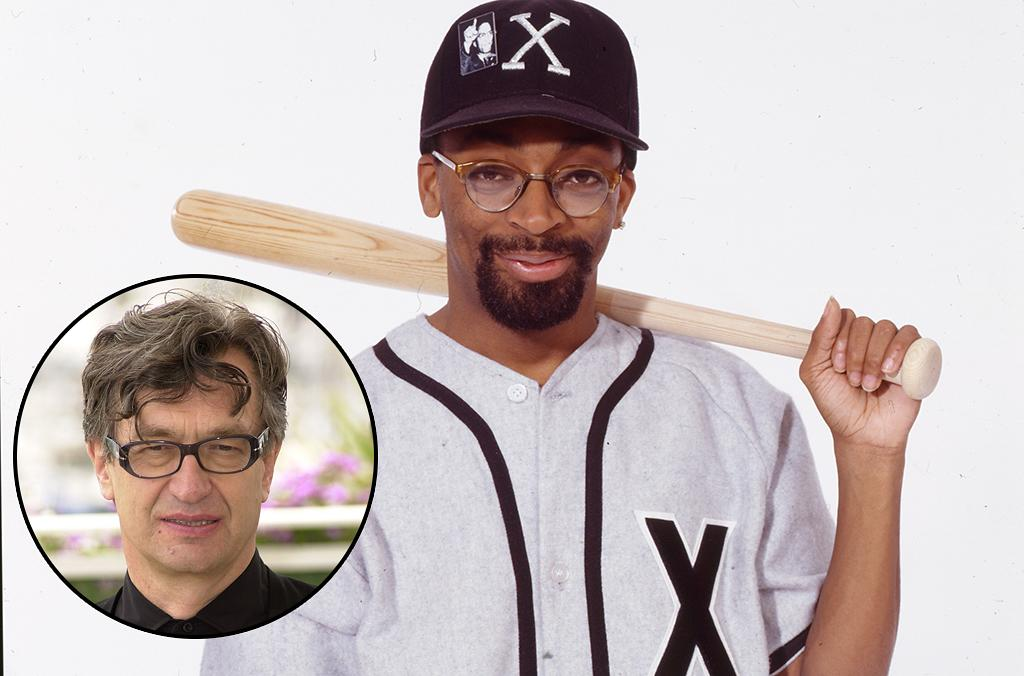 Portrait of African American film director Shelton Jackson 'Spike' Lee, wearing a baseball jersey marked with the letter 'X' for his film about Malcolm X, and with a baseball bat resting on his shoulder, New York, 1991. (Photo by Anthony Barboza/Getty Images)