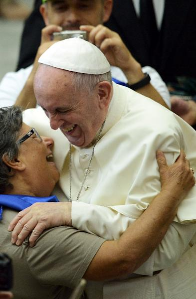 """""""So often, Francis addresses issues of poverty, but he doesn't recognise that it is poor women who suffer and die from restrictions to their reproductive health,"""" says a Catholic activist for contraception (AFP Photo/Filippo Monteforte)"""