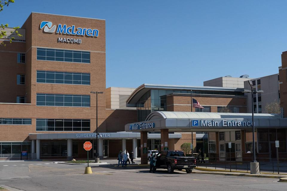 McLaren Macomb Hospital in Mt. Clemens on Friday, April 9, 2021.