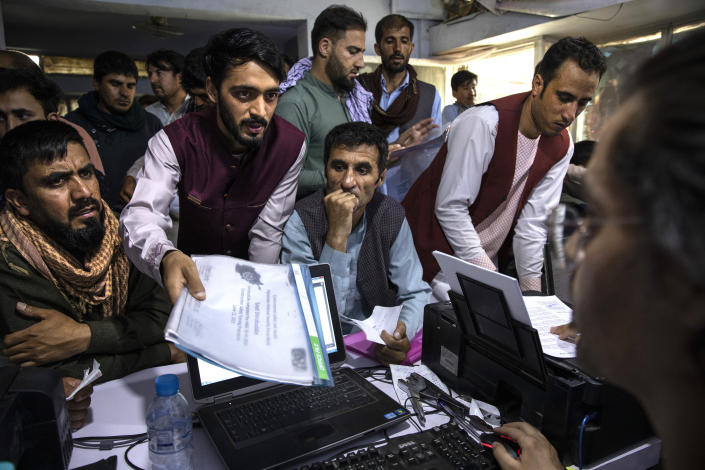 Afghan Special Immigrant Visa applicants in Kabul