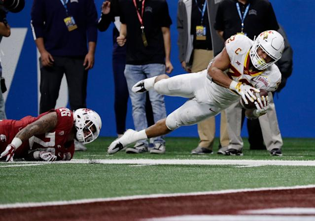 Iowa State's David Montgomery was a load to bring down this season. (AP)