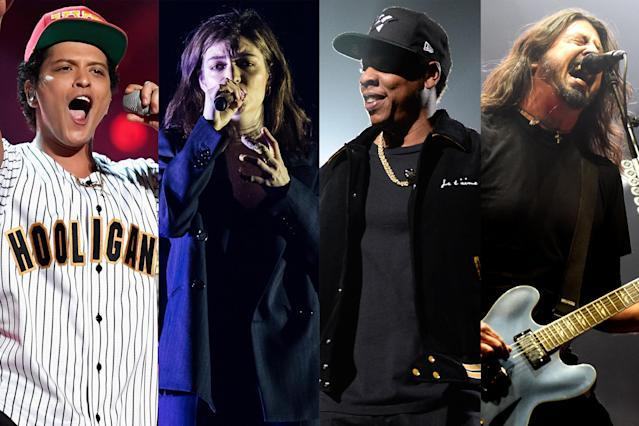 <p>Other prospects include Bruno Mars's <i>24K Magic</i>, Lorde's <i>Melodrama</i>, Jason Isbell and the 400 Unit's <i>The Nashville Sound</i>, Chris Stapleton's <i>From a Room: Volume 1</i>, Jay-Z's <i>4:44</i>, Metallica's <i>Hardwired…to Self-Destruct</i>, and the Foo Fighters' <i>Concrete and Gold</i>.<br>(Photo: Getty Images) </p>