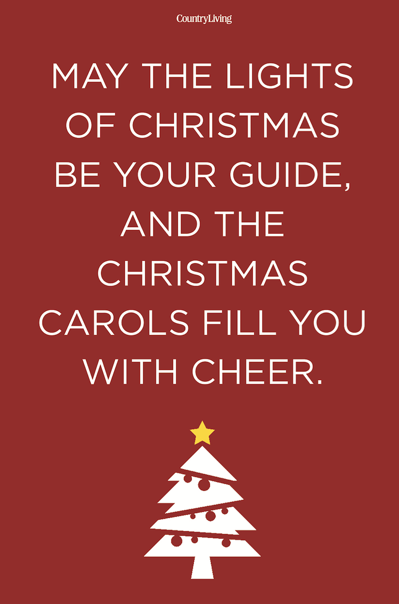 <p>May the lights of Christmas be your guide, and the Christmas carols fill you with cheer. </p>
