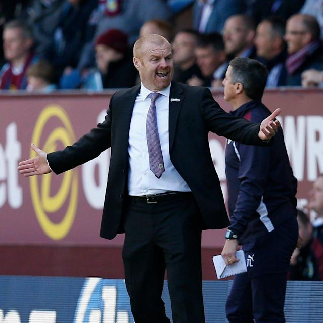 <span>Burnley manager Sean Dyche with thinking to do at half time</span> <span>Credit: Reuters </span>