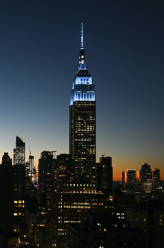 Empire State Building Lit In Honor of John Lennon's 80th Birthday