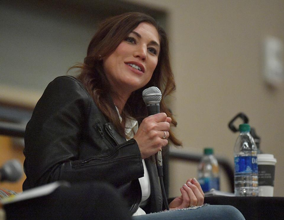 Hope Solo is still fighting for equality both in her own equal pay lawsuit against U.S. Soccer and in the media. (Photo by Sam Wasson/Getty Images)