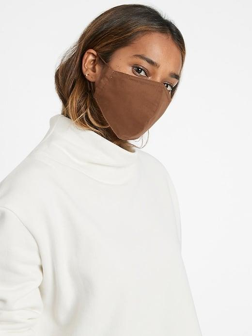 <p>Maybe this <span>Banana Republic True Hues Mask in Dark Almond Brown</span> ($9) would have been a closer match to my skin tone. I like the contrast with the model's.</p>