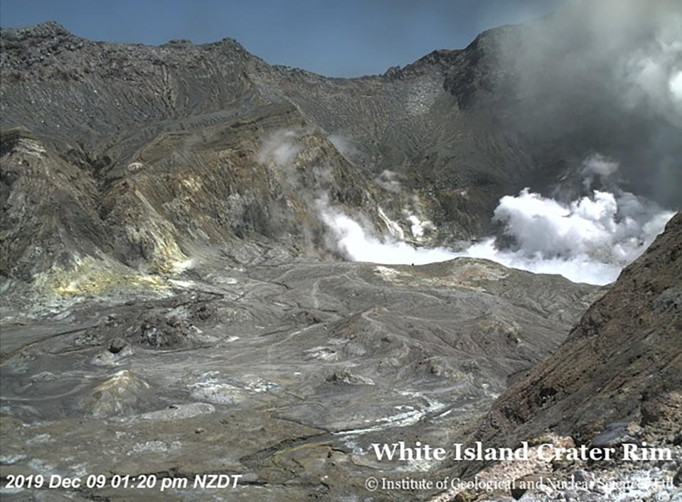 Photo of the volcano shortly before it erupted and killed at least five people on Monday. Source: AAP