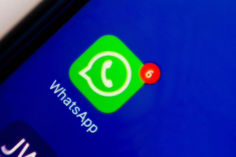 BRAZIL - 2020/08/28: In this photo illustration an icon of WhatsApp app displayed on a smartphone. (Photo Illustration by Rafael Henrique/SOPA Images/LightRocket via Getty Images)