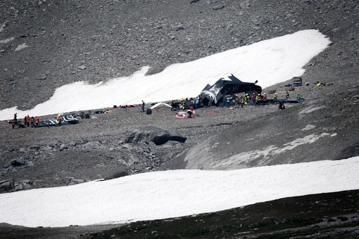 Daniel Knech of the Swiss safety investigation service SESE said the crew did not have time to send out a distress signal (AFP Photo/Fabrice COFFRINI)