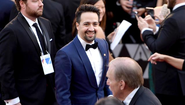 Lin-Manuel Miranda attends the 90th Annual Academy Awards. (Photo: Matt Winkelmeyer/Getty Images)