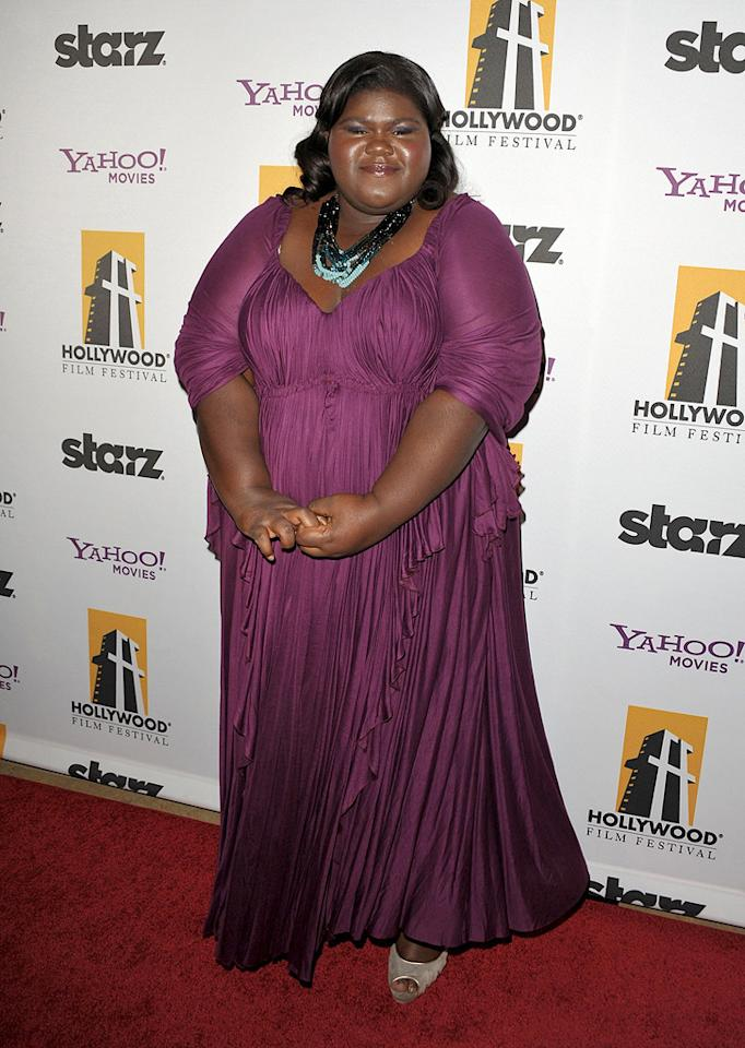 "<a href=""http://movies.yahoo.com/movie/contributor/1810088328"">Gabourey Sidibe</a> at the 13th Annual Hollywood Awards Gala held at the Beverly Hilton Hotel - 10/26/2009"