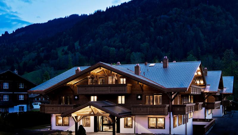 Opened in December 2016, Switzerland's boutique Ultima Gstaad hotel is comprised of 11 suites and six residences that are housed in three wooden chalets. Modeled after traditional Swiss chalets, the one- to two-bedroom suites are equipped with bronze-lined fireplaces and private balconies or terraces that overlook the Alps. Wood, fur, and wool accents make the spaces feel cozy and down-to-earth, while marble bathrooms and walk-in wardrobes elevate the environment.