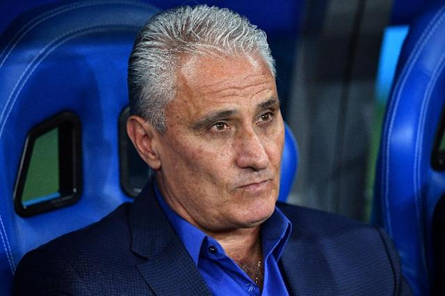 Tite's Brazil were held to a 1-1 draw by Switzerland (AFP Photo/JOE KLAMAR)