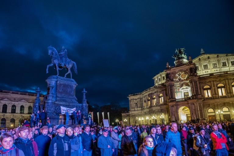 A tightening of restrictions across Europe in the face of spiking virus cases has brought sporadic protests to Spain, Italy, the Czech Republic, and Germany, where people rallied in Dresden