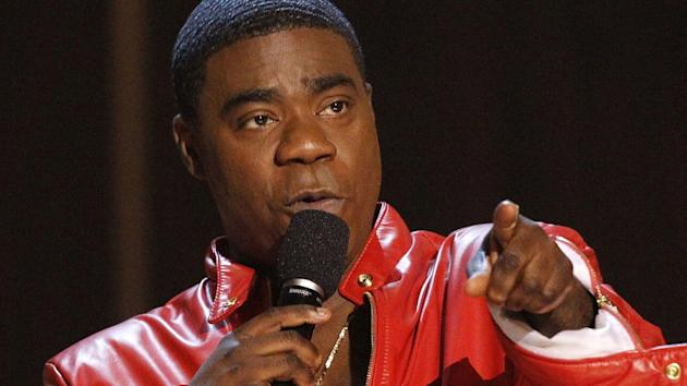 Comedian Tracy Morgan remained in critical condition Monday, but the actor's publicist said he's showing signs of improvement.