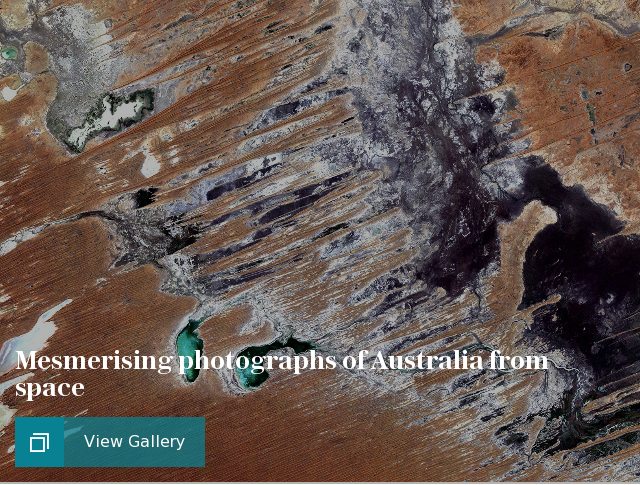 Mesmerising photographs of Australia from space