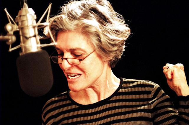 Anne Bancroft recording voice work for <i>Delgo</i> in 2008. (Photo: Freestyle Releasing/Courtesy Everett Collection)