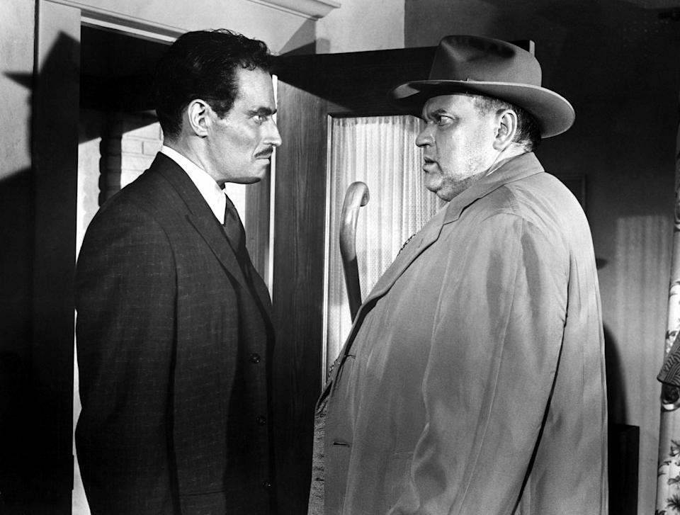 Heston starred as a Mexican character in Orson Welles's classic 1958 noir, 'Touch of Evil' (Photo: Courtesy Everett Collection)