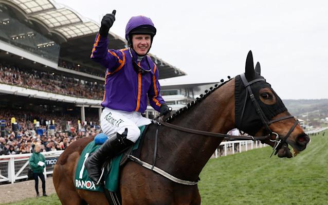 <span>Paul Townend wins the County Hurdle on Arctic Fire</span> <span>Credit: Reuters/Stefan Wermuth  </span>
