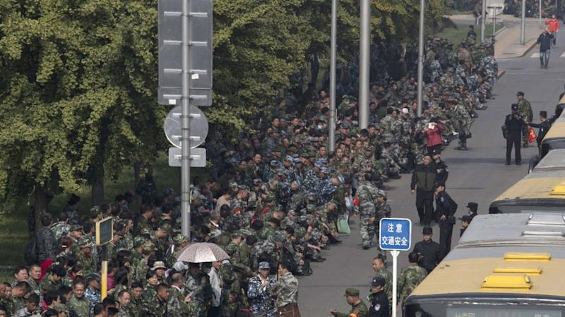 China's military veterans ministry opens after pension protests