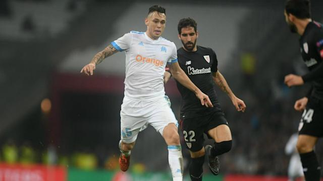 Lucas Ocampos' brace led Marseille to a confident victory over Athletic Bilbao in their Europa League meeting at the Stade Velodrome.