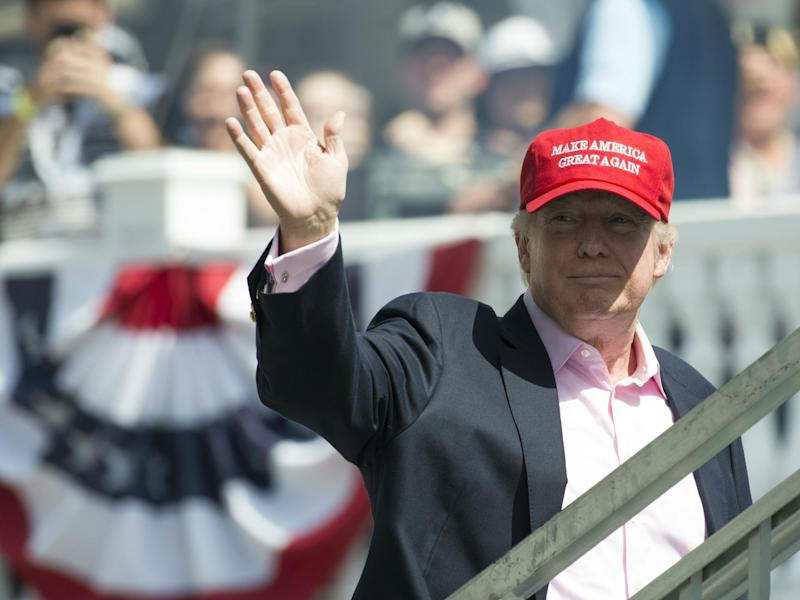 The Secret Service has spent nearly $14,000 in renting golf carts during Donald Trump's vacation to his golf club in Bedminster, New Jersey: SAUL LOEB/AFP/Getty Images