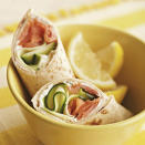 """<p>This take on lox and cream cheese uses whole wheat tortillas instead of the traditional bagels. <a href=""""http://www.eatingwell.com/recipe/264706/smoked-salmon-breakfast-wraps/"""" rel=""""nofollow noopener"""" target=""""_blank"""" data-ylk=""""slk:View recipe"""" class=""""link rapid-noclick-resp""""> View recipe </a></p>"""