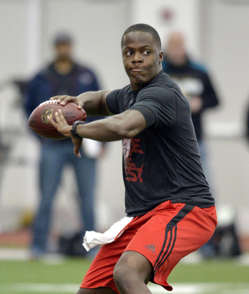 QB Bridgewater works out during Louisville pro day