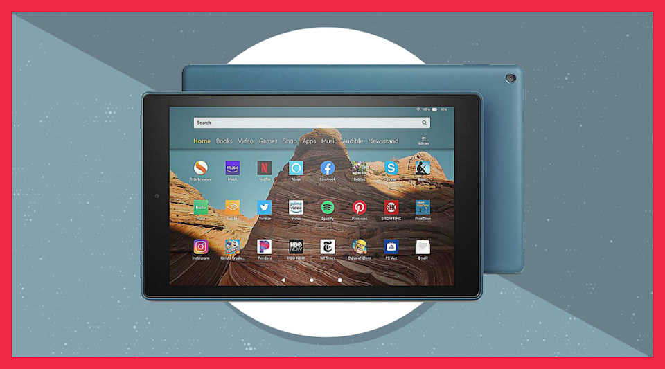 When you buy this Amazon Fire HD 10 tablet, you'll get a Caseable custom case and other goodies for free. (Photo: HSN)