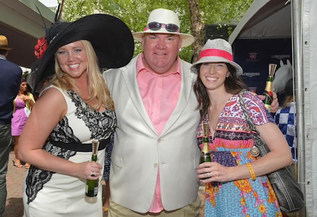 LOUISVILLE, KY - MAY 03: Guests celebrate Kentucky Oaks Day with Moet & Chandon at Churchill Downs on May 3, 2013 in Louisville, Kentucky. (Photo by Mike Coppola/Getty Images for Moet & Chandon)