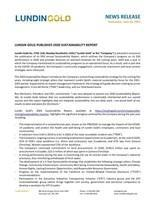 Lundin Gold Publishes 2020 Sustainability Report (CNW Group/Lundin Gold Inc.)