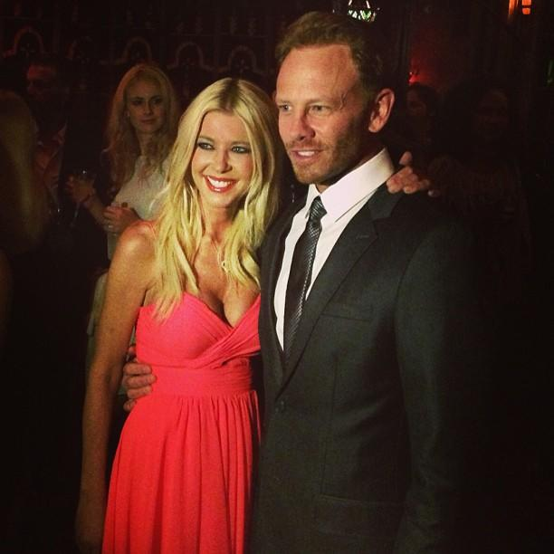 #Sharknado stars Tara Reid and Ian Ziering reunited for the red carpet screening.