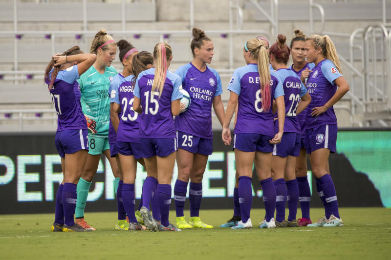 The Orlando Pride will not participate in the NWSL Challenge Cup due to positive COVID-19 tests. (Photo by Joe Petro/Icon Sportswire via Getty Images)