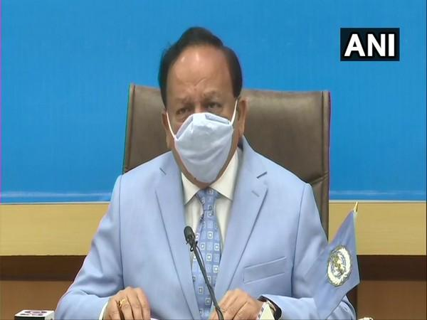 Union Health Minister and chairman of WHO Executive Board Dr. Harsh Vardhan speaking at special session of WHO executive board on Monday. Photo/ANI