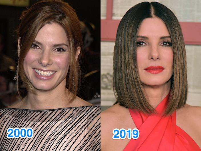sandra bullock then and now