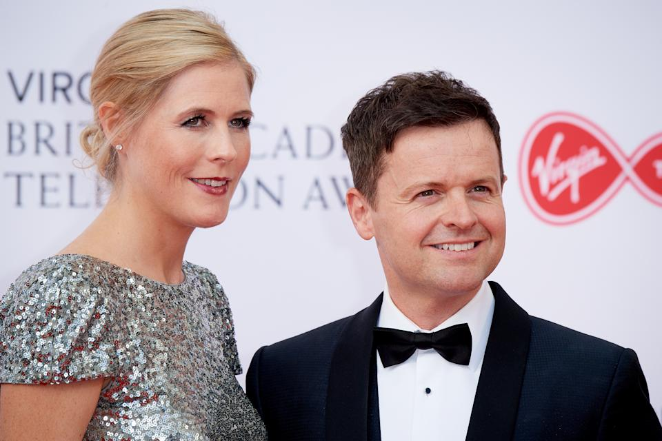Declan Donnelly and Ali Astall attend the Virgin TV British Academy Television Awards at The Royal Festival Hall on May 13, 2018 in London, England.  (Photo by Jeff Spicer/Getty Images)