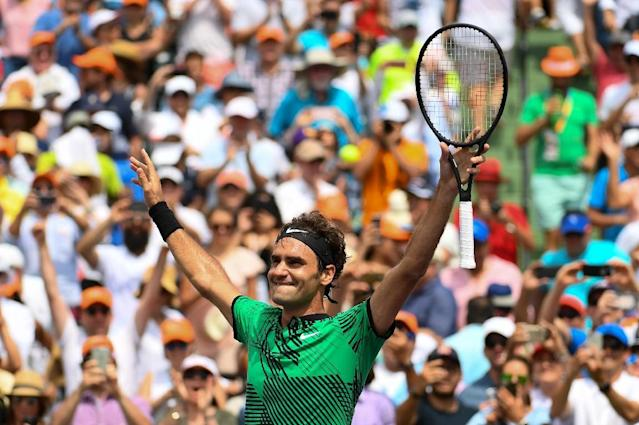 Roger Federer of Switzerland downplayed expectations for the French Open, which he has won just once (AFP Photo/Rob Foldy)