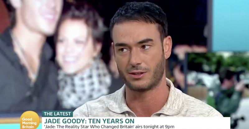 Jack Tweed spoke about Jade Goody's death during an appearance on Good Morning Britain (Photo: ITV)