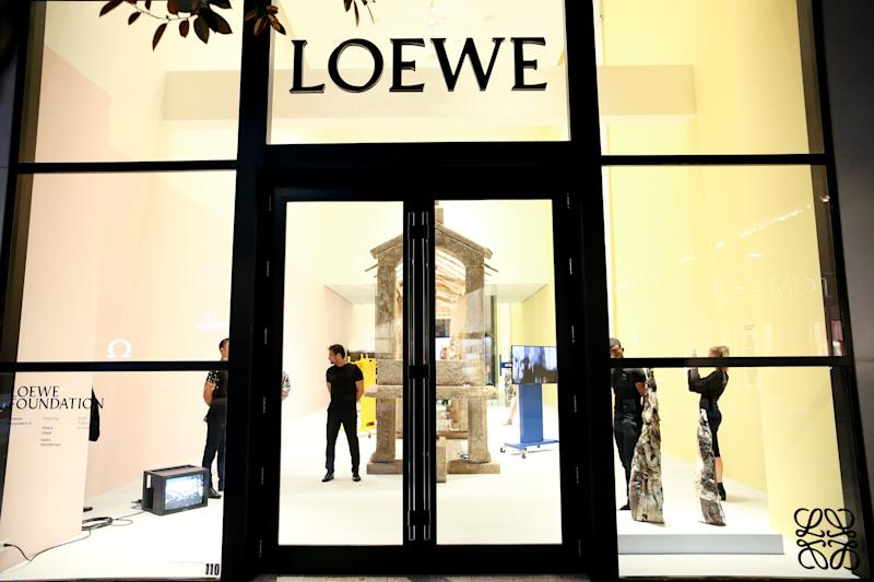 Outside the Loewe store