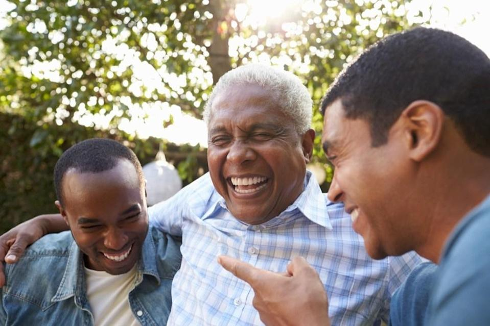 """Sometimes <a rel=""""nofollow noopener"""" href=""""https://bestlifeonline.com/health-benefits-laughter/?utm_source=yahoo-news&utm_medium=feed&utm_campaign=yahoo-feed"""" target=""""_blank"""" data-ylk=""""slk:laughter is the best medicine"""" class=""""link rapid-noclick-resp"""">laughter is the best medicine</a>, and other times it's a sign that something is amiss with your health. Researchers from <a rel=""""nofollow noopener"""" href=""""https://www.ucl.ac.uk/news/2015/nov/changes-humour-early-sign-dementia"""" target=""""_blank"""" data-ylk=""""slk:University College London"""" class=""""link rapid-noclick-resp"""">University College London</a> recently discovered that older individuals whose <a rel=""""nofollow noopener"""" href=""""https://bestlifeonline.com/dark-jokes/?utm_source=yahoo-news&utm_medium=feed&utm_campaign=yahoo-feed"""" target=""""_blank"""" data-ylk=""""slk:sense of humor becomes darker"""" class=""""link rapid-noclick-resp"""">sense of humor becomes darker</a>—i.e. laughing at a funeral—are more likely to have a form of frontotermporal dementia or Alzheimer's. This symptom actually appeared in subjects years before the onset of the actual disease. So paying attention to what you and your loved ones find funny might help you detect dementia early on."""