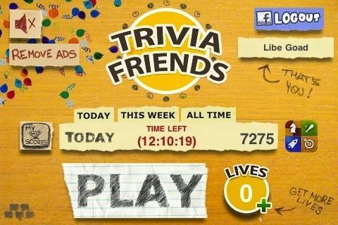 trivia friends iphone game with facebook connect
