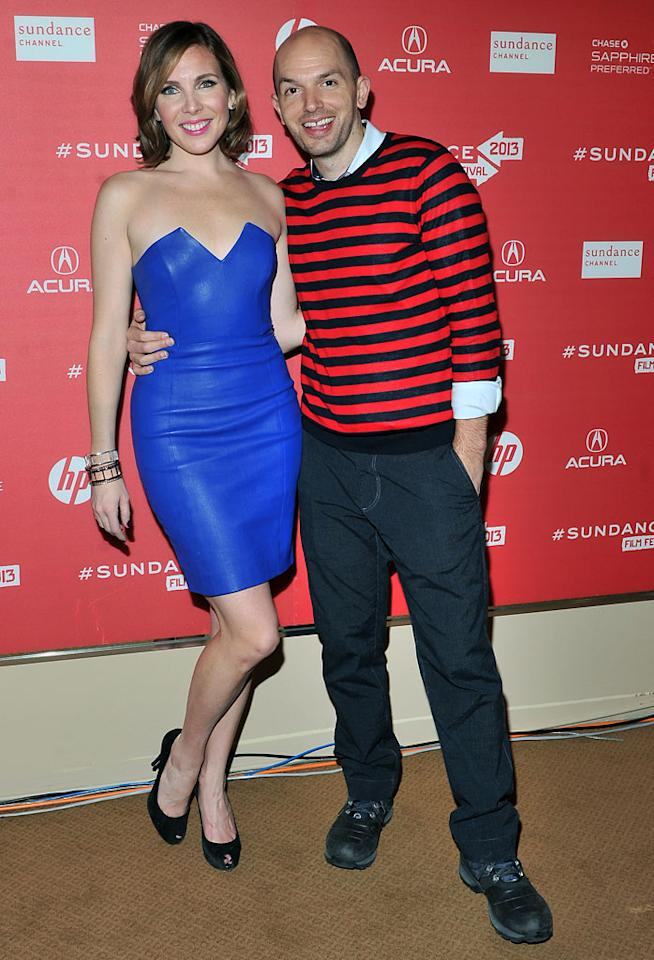 """PARK CITY, UT - JANUARY 21:  June Diane Raphael and Paul Scheer attend the """"Ass Backwards"""" premiere at Egyptian Theatre during the 2013 Sundance Film Festival on January 21, 2013 in Park City, Utah.  (Photo by Sonia Recchia/Getty Images)"""